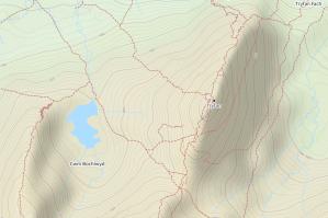 Tryfan topo map